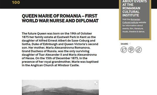 Regina Maria, între personalitățile singularizate de Imperial War Museum din Londra de Ziua Internațională a Femeii