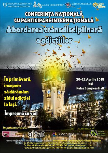 afis Abordarea interdisciplinară a adictiilor