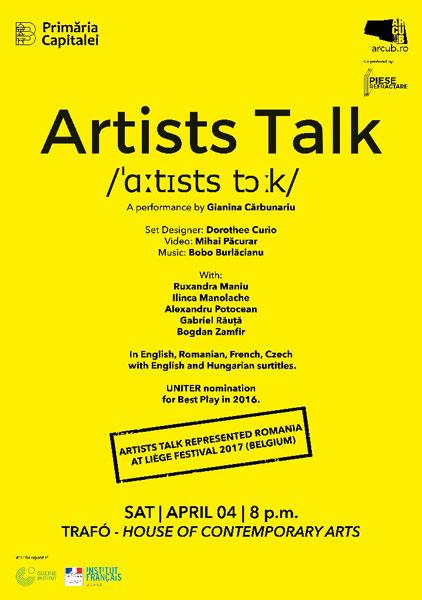 poster Artist Talk, Budapesta