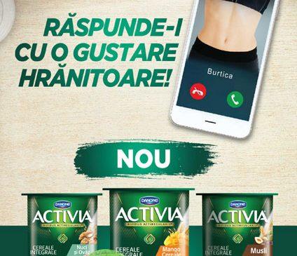 """Activia lansează campania """"Răspunde-i cu o gustare hrănitoare!"""""""