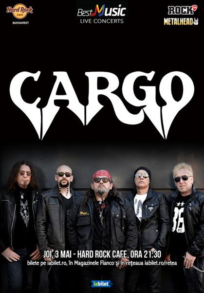 Concert CARGO pe 3 mai la Hard Rock Cafe