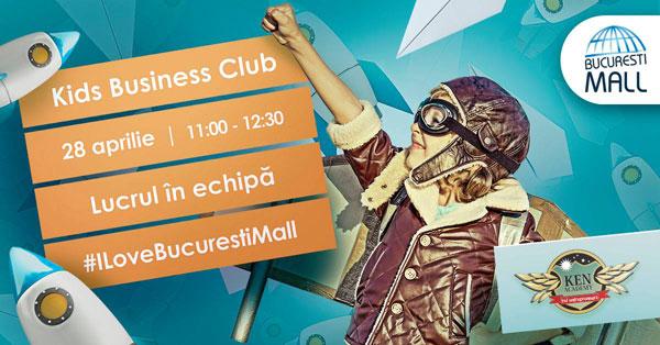 """""""Kids Business Club"""" – Cursuri gratuite de educație financiară și antreprenorială pentru copii la București Mall – Vitan"""