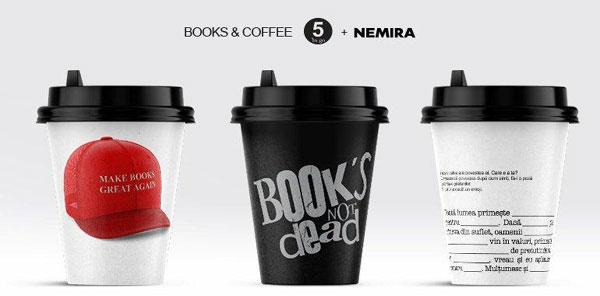 45.000 de pahare din cafenelele 5togo promovează plăcerea lecturii de Ziua Cărții