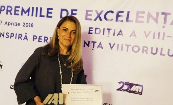 Oana Cociașu, premiată de IAA România pentru excelență în dialogul cu autoritățile
