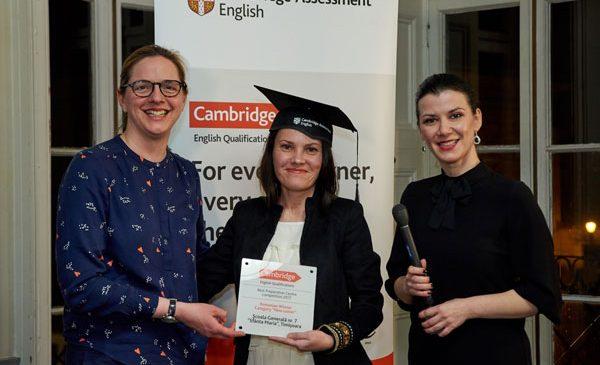 """Și cel de-al treilea câștigător al primei ediții """"Preparation Centre Awards"""" organizate de Cambridge Assessment English este Școala Gimnazială Nr. 7""""Sfânta Maria"""", Timișoara"""