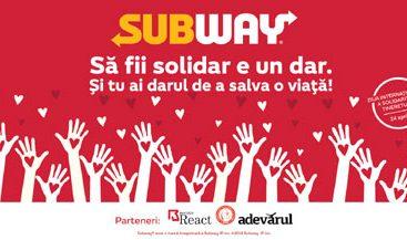 """SUBWAY® România lansează campania umanitară """"Să fii solidar e un dar"""""""