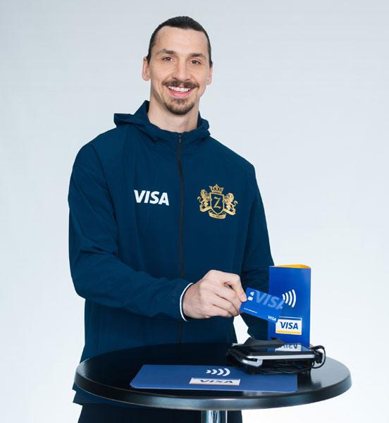 Zlatan Ibrahimovic, Visa Card