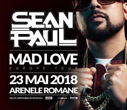 """Sean Paul se oprește și în România în turneul mondial """"Mad Love"""""""