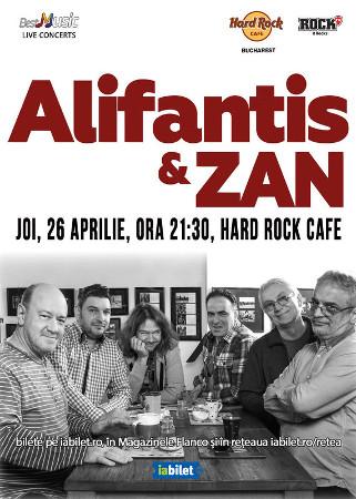 Concert Nicu Alifantis & ZAN pe 26 aprilie la Hard Rock Cafe