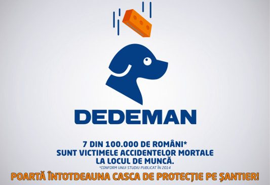 Dedeman renunță la casca de protecție din logo-ul companiei pentru a atrage atenția asupra siguranței
