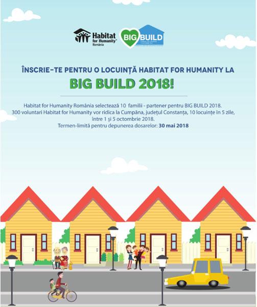 Anunt aplicatii familii pentru o locuinta Habitat for Humanity