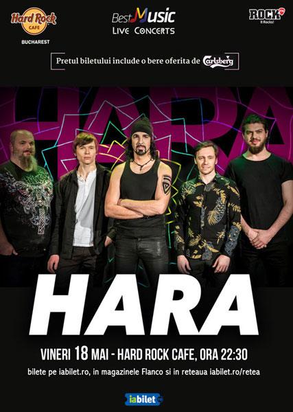Concert Hara, 18 mai, Hard Rock Cafe