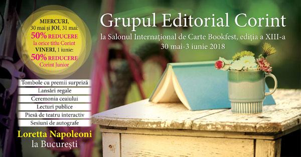 Grupul Editorial Corint la Salonul Internațional de Carte Bookfest, ediția a XIII-a