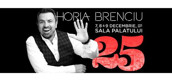 Horia Brenciu aniversează 25 de ani de carieră printr-un concert extraordinar la Sala Palatului pe 7, 8 și 9 decembrie
