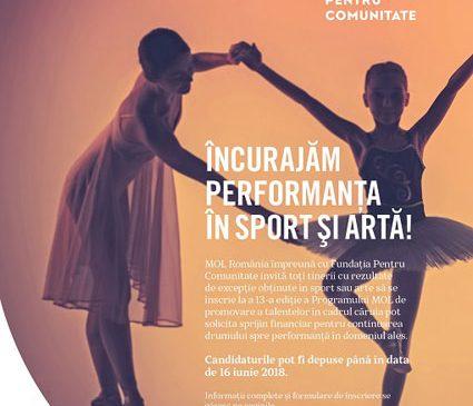 MOL România majorează sprijinul financiar acordat tinerilor sportivi și artiști prin programul de promovare a talentelor