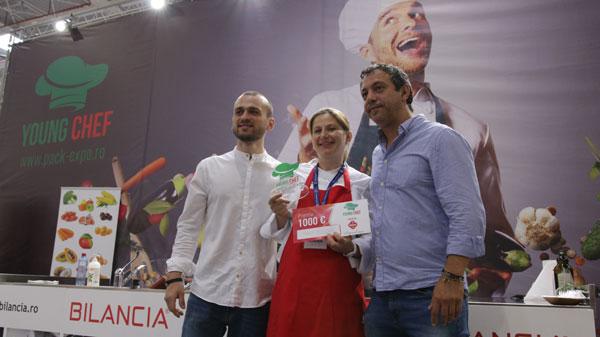 IOANA BOGDAN a câştigat trofeul YOUNG CHEF şi marele premiu de 1000 de euro din partea Angst