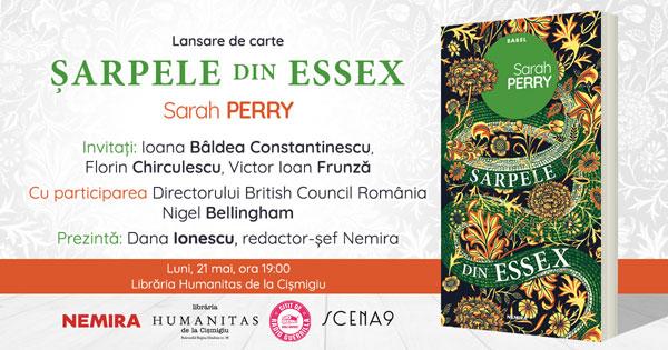 Lansare de carte: Șarpele din Essex, de Sarah Perry