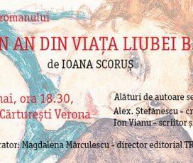 """Lansarea romanului """"Un an din viața Liubei B."""" de Ioana Scoruș"""