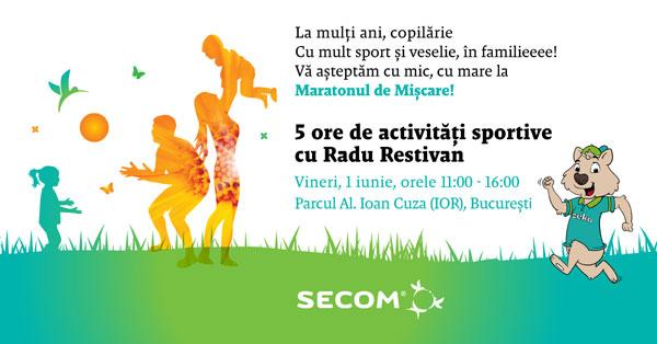 De 1 iunie, Secom® invită familiile să celebreze copilăria prin jocuri sportive