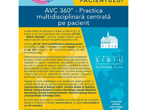 """În cea de-a treia conferință națională despre accidentul vascular cerebral se va dezbate subiectul """"AVC 360° – Practica multidisciplinară centrată pe pacient"""""""