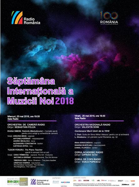 Saptamana Internationala a Muzicii Noi 2018 afis
