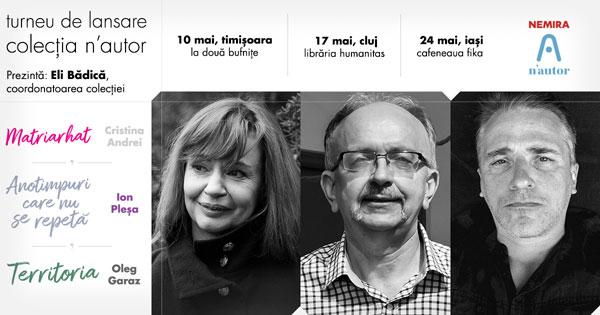 Colecția n'autor se lansează la Timișoara, Cluj și Iași