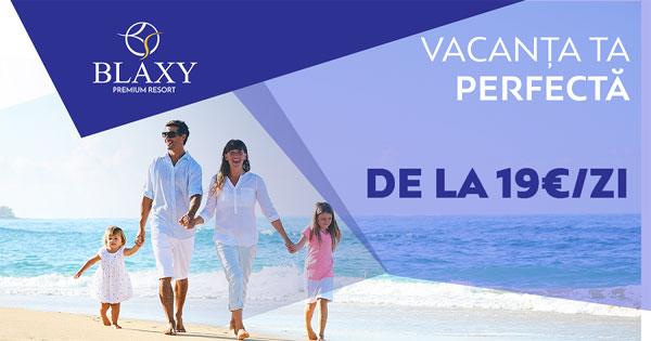 Noul concept Blaxy Premium Resort: de la 19 euro pe zi, vacanță la mare și achiziție de apartament*