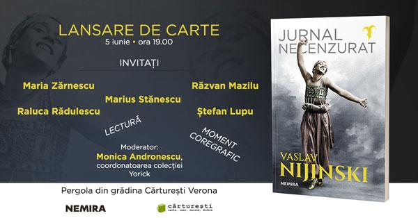 "O lansare-eveniment: ""Jurnalul necenzurat"" al lui Vaslav Nijinski"