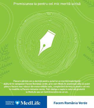 """MedLife dă startul celei mai lungi scrisori cu promisiunile părinților pentru viitorul copiilor în campania de CSR """"Facem România verde"""""""