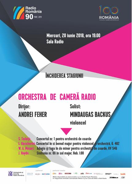 dirijorul ANDREI FEHER închide stagiunea Orchestrei de Cameră Radio