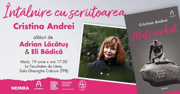 Întâlnire cu Cristina Andrei la Brașov