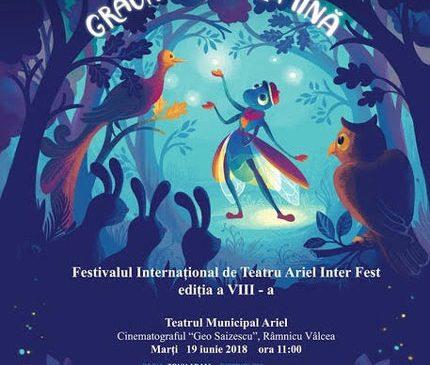 Teatrul Stela Popescu prezintă spectacolul Lampio în turneu la Festivalul Internaţional Ariel InterFest Râmnicu Vâlcea