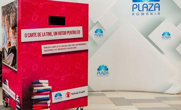La Plaza România s-au strâns peste 3.000 de cărți pentru elevii din București