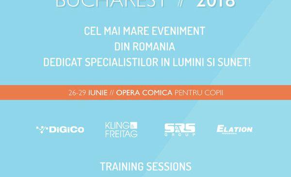 Producătorii de echipamente audio folosite de Aerosmith, Queen & Adam Lambert, Carlos Santana, Sia sau Bonobo vin în premieră la București la Stage Tech: Lights & Sound