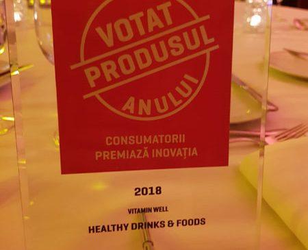 Vitamin Well votat produsul anului 2018 în România