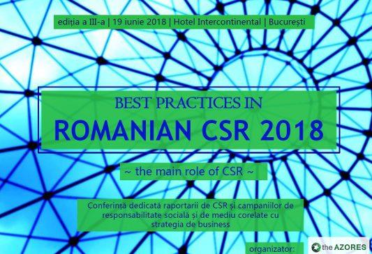 """Cea mai importantă analiză a domeniului responsabilității sociale și de mediu din România va fi prezentată la """"Best Practices in Romanian CSR"""", ediția 3"""