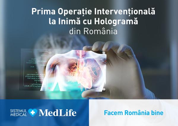 Medlife Prima operație intervențională la inimă cu hologramă din România