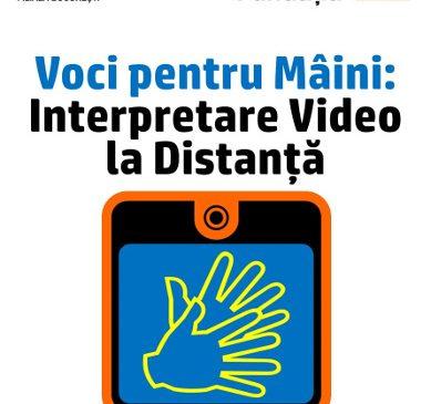Premieră în România – interpretare mimico-gestuală la distanță, prin apeluri video