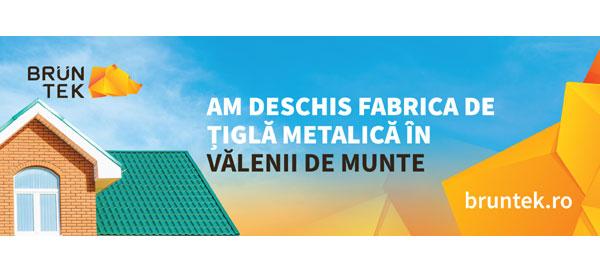 BrunTek fabrica de tigla metalica in Valenii de Munte