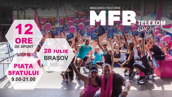 """Festivalul de sport și sănătate """"Cea mai mare oră de sport"""" ajunge în acest weekend în Brașov"""