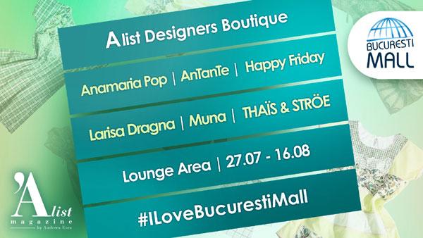 Șase branduri românești aduc culoare și stil feminin la Designers Boutique din București Mall