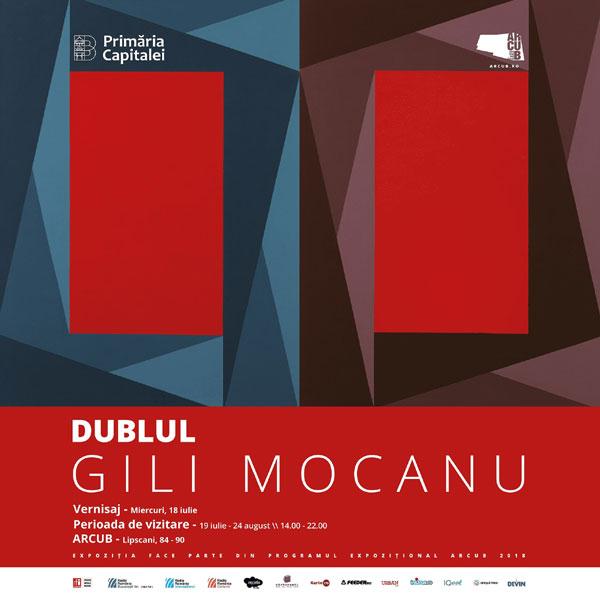 Expozitie Dublul, Gili Mocanu, poster