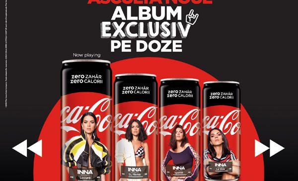 Inovație muzicală Coca-Cola & INNA: primul album din România lansat exclusiv pe dozele Coca-Cola Zero Zahăr