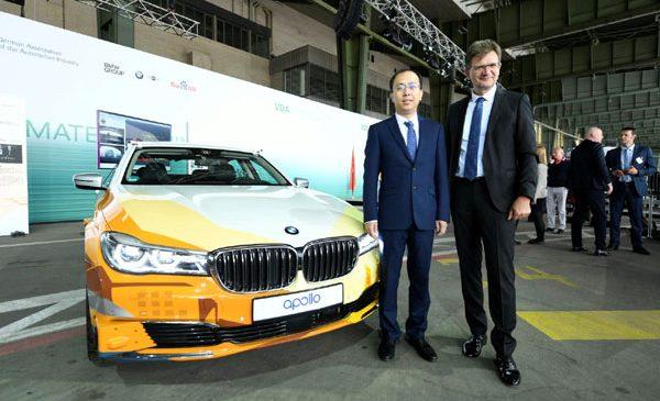 BMW Group şi Baidu îşi unesc forţele pentru accelerarea dezvoltării condusului autonom în China