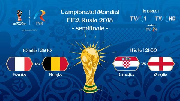 TVR 1, pe locul 1 cu meciurile din sferturile CM FIFA Rusia