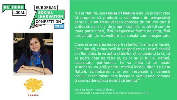 Semifinalisti romani, House of Nature