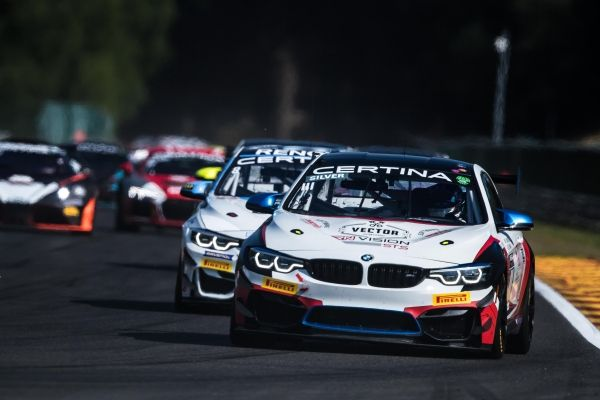 Romanian Razvan Umbrărescu with BMW M4 GT4 in GT European Series, Spa-Francorchamps