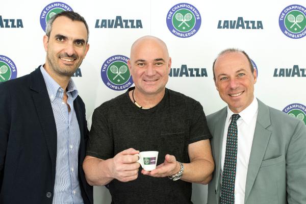 Giuseppe Lavazza, Marco Lavazza si Andre Agassi