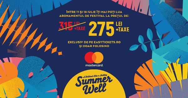 Mastercard devine partenerul Summer Well - abonamente la pret preferential