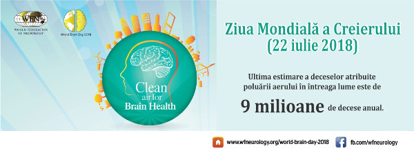 22 iulie 2018 – Ziua Mondială a Creierului: Aer curat pentru sănătatea creierului